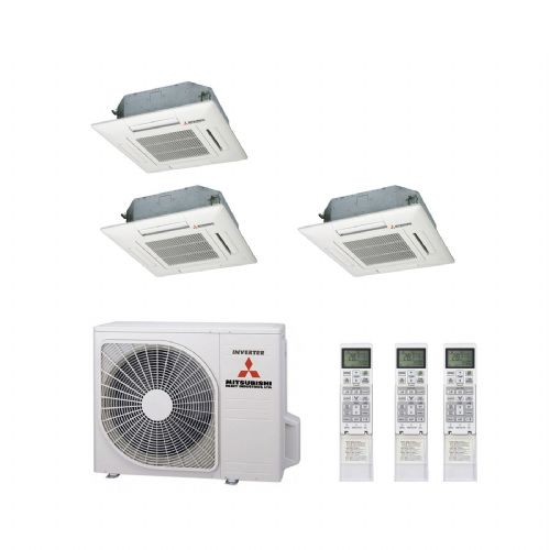 Mitsubishi Heavy Industries Air Conditioning SCM80ZM-S Multi Inverter Heat Pump 2 x FDTC25VF, 1 x FDTC50VF Compact Cassette A+ 240V~50Hz